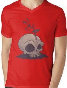 Skull Garden Mens V-Neck T-Shirt