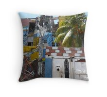 Murals of Callejon de Hamel Throw Pillow