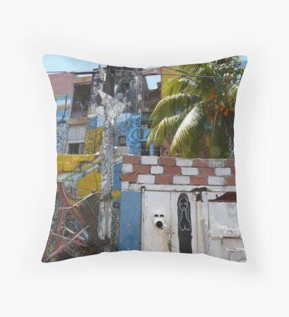 Murals of Callejon de Hamel Throw Pillow