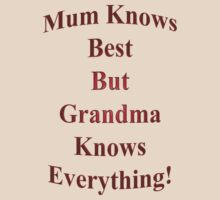 Mum Knows Best But Grandma Knows Everything! by Mike Paget
