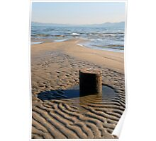 Wooden Pier in Sand Poster