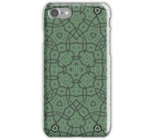 Green abstract modern pattern iPhone Case/Skin
