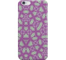 Purple trendy abstract pattern iPhone Case/Skin