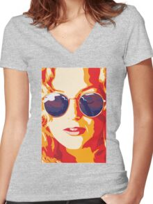 Penny Lane Women's Fitted V-Neck T-Shirt
