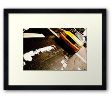 Cab Crossing - NYC Framed Print