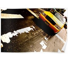 Cab Crossing - NYC Poster