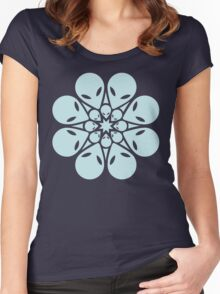 Alien / flower mandala Women's Fitted Scoop T-Shirt
