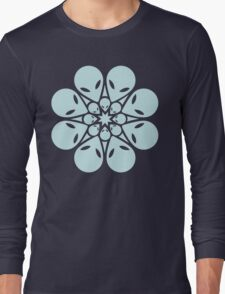 Alien / flower mandala Long Sleeve T-Shirt