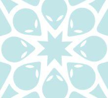 Alien / flower mandala Sticker