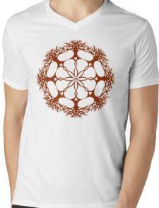 Hearthearth Tree Mandala Mens V-Neck T-Shirt