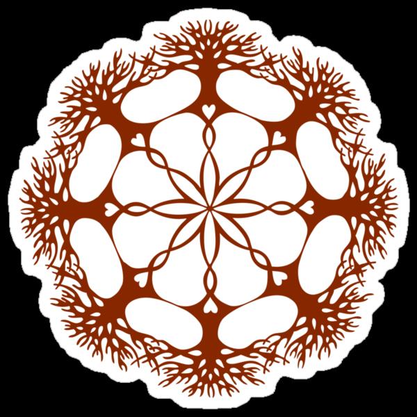 Hearthearth Tree Mandala by Sarah Jane Bingham
