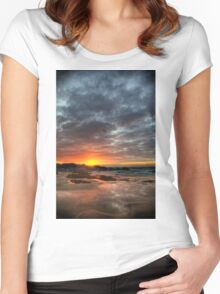 Sunset Over St Ives Women's Fitted Scoop T-Shirt