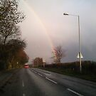 Rainbow over Lytchett Minster by Songwriter