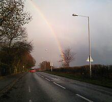 Rainbow over Lytchett Minster by Songwriter