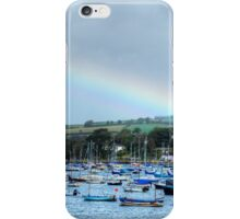Rainbow Over Falmouth Harbour iPhone Case/Skin