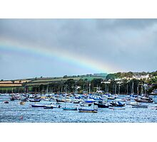 Rainbow Over Falmouth Harbour Photographic Print