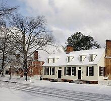 Snowy Colonial Williamsburg on DoG Street by Thomas Toohey Brown