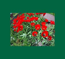Flowerbed with red tulips Unisex T-Shirt