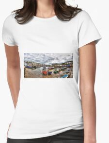 Mevagissey Harbour Womens Fitted T-Shirt