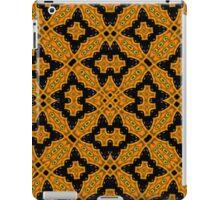 Abstract Pattern black orange iPad Case/Skin