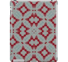 Red abstract trendy pattern iPad Case/Skin