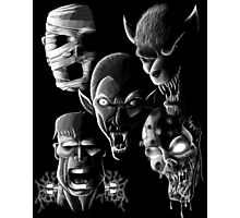 Monsters - Vampire, Werewolf, Zombie, Mummy and Frankenstein Photographic Print