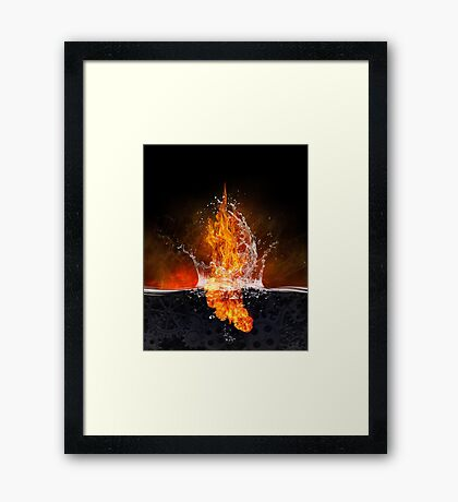 Corporate Consciousness. Fracking As Objet d'art.  Framed Print