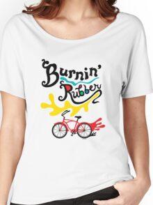 Burnin' Rubber  Women's Relaxed Fit T-Shirt