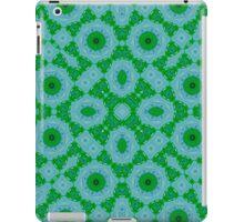 Green Blue Abstract trendy pattern iPad Case/Skin