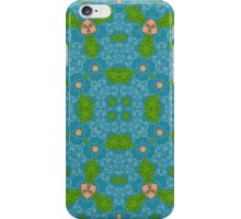 blue modern Abstract Pattern  iPhone Case/Skin