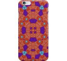 red blue Abstract Pattern iPhone Case/Skin