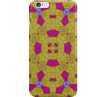 Yellow purple abstract pattern iPhone Case/Skin