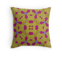 Yellow purple abstract pattern Throw Pillow