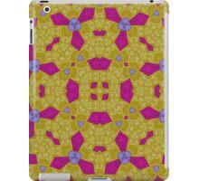 Yellow purple abstract pattern iPad Case/Skin