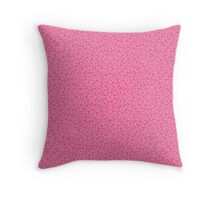 Pink Trendy Abstract Pattern Throw Pillow