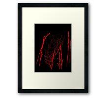 Web In Red Framed Print