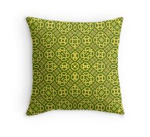 yellow modern Abstract Pattern  Throw Pillow