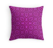 Trendy Purple Abstract Pattern Throw Pillow