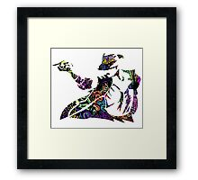 Michael Jackson -  Psychedelic Framed Print