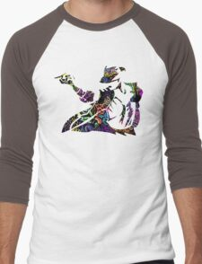 Michael Jackson -  Psychedelic Men's Baseball ¾ T-Shirt