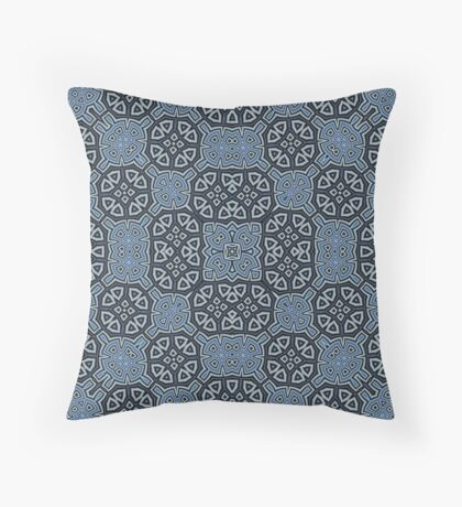 Abstract Pattern blue Throw Pillow