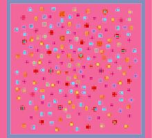 Sweet Squares, Pink by Betty Mackey