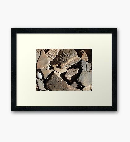 native American,Creek tribe,potsherds,ancient,Florida, Framed Print