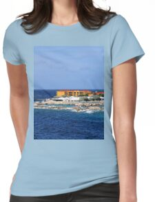 a desolate Curacao landscape Womens Fitted T-Shirt
