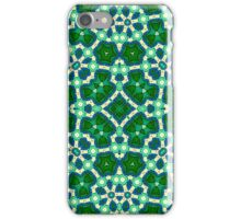 Green Blue Abstract Pattern iPhone Case/Skin