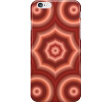 Red abstract circle pattern iPhone Case/Skin