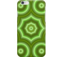 Green abstract circle pattern iPhone Case/Skin