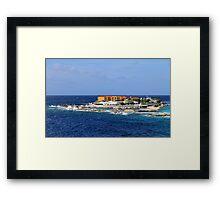 a desolate Curacao landscape Framed Print