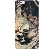 Snowdrop & Other Tales by Jacob Grimm art Arthur Rackham 1920 0077 The Ducks and the Key iPhone Case/Skin