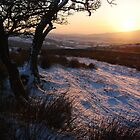 Sunset over West Craven in the snow by Margaret Brown